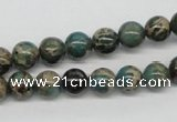 CAT5003 15.5 inches 8mm round natural aqua terra jasper beads