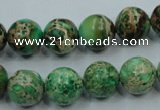 CAT59 15.5 inches 12mm round dyed natural aqua terra jasper beads