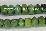 CAU32 15.5 inches 8*12mm nugget australia chrysoprase beads wholesale