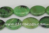 CAU40 15.5 inches 13*18mm oval australia chrysoprase beads wholesale