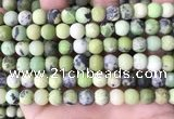 CAU479 15.5 inches 8mm round matte Australia chrysoprase beads