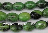 CAU48 15.5 inches 10*14mm rice Australia chrysoprase beads wholesale
