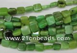 CAU50 15.5 inches 6*6mm square Australia chrysoprase beads wholesale