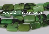 CAU52 15.5 inches 8*12mm rectangle Australia chrysoprase beads wholesale