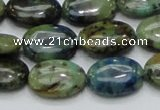 CAZ01 15.5 inches 13*18mm oval natural azurite gemstone beads