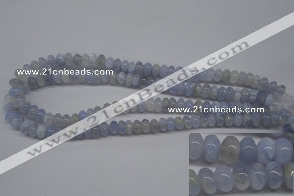 CBC21 15.5 inches 6*10mm rondelle blue chalcedony beads wholesale