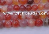 CBC400 15.5 inches 4mm A grade round orange chalcedony beads