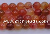 CBC410 15.5 inches 4mm AA grade round orange chalcedony beads