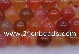 CBC412 15.5 inches 8mm AA grade round orange chalcedony beads