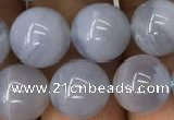 CBC713 15.5 inches 10mm round blue chalcedony beads wholesale