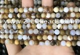 CBC800 15.5 inches 4mm round natural polka dot chalcedony beads
