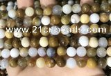 CBC802 15.5 inches 8mm round natural polka dot chalcedony beads