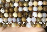 CBC804 15.5 inches 12mm round natural polka dot chalcedony beads