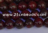CBD352 15.5 inches 8mm round poppy jasper beads wholesale