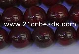 CBD355 15.5 inches 14mm round poppy jasper beads wholesale