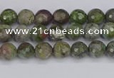 CBG100 15.5 inches 4mm faceted round bronze green gemstone beads