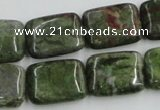 CBG20 15.5 inches 15*20mm rectangle bronze green gemstone beads