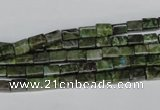 CBG76 15.5 inches 4*6mm cuboid bronze green gemstone beads
