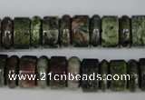 CBG80 15.5 inches 5*14mm & 7*14mm rondelle bronze green gemstone beads