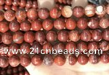 CBJ392 15.5 inches 10mm round brecciated jasper beads wholesale