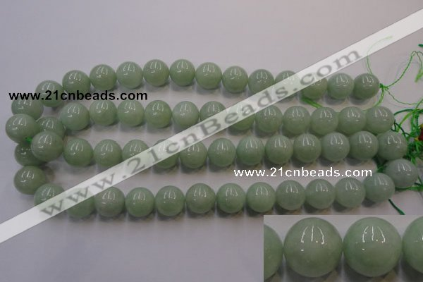 CBJ415 15.5 inches 14mm round natural jade beads wholesale