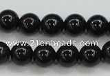 CBJ553 15.5 inches 8mm round Russian black jade beads wholesale