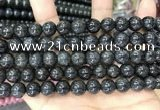 CBJ560 15.5 inches 10mm round black jade beads wholesale