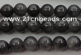 CBJ650 15.5 inches 6mm round black jade beads wholesale