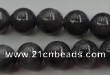 CBJ651 15.5 inches 8mm round black jade beads wholesale