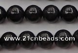 CBJ657 15.5 inches 8mm round black jade beads wholesale
