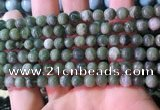 CBJ706 15.5 inches 6mm round green jade beads wholesale