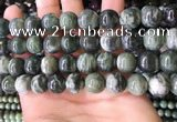 CBJ709 15.5 inches 12mm round green jade beads wholesale