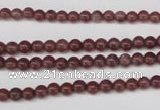CBQ200 15.5 inches 4mm round strawberry quartz beads wholesale
