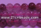 CBQ401 15 inches 6mm round natural strawberry quartz beads