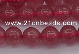 CBQ488 15.5 inches 10mm round strawberry quartz beads wholesale