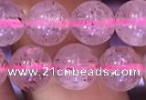 CBQ552 15.5 inches 8mm round strawberry quartz beads wholesale