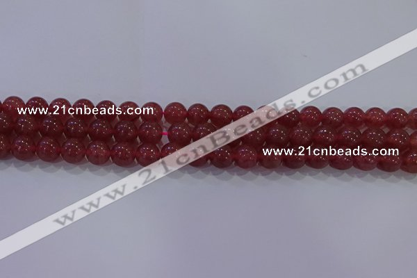 CBQ622 15.5 inches 8mm round strawberry quartz beads wholesale