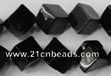 CBS225 15.5 inches 12*12mm cube blackstone beads wholesale