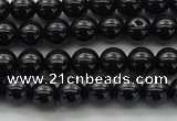 CBS500 15.5 inches 6mm round A grade black spinel beads