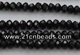 CBS507 15.5 inches 2*4mm faceted rondelle A grade black spinel beads