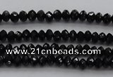 CBS511 15.5 inches 2*3mm faceted rondelle AA grade black spinel beads