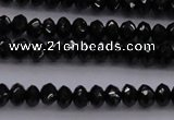 CBS512 15.5 inches 2*4mm faceted rondelle AA grade black spinel beads