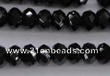 CBS514 15.5 inches 4*6mm faceted rondelle AA grade black spinel beads