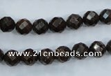 CBZ103 15.5 inches 6mm faceted round bronzite gemstone beads