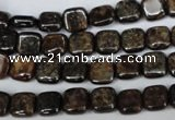 CBZ224 15.5 inches 8*8mm square bronzite gemstone beads