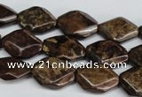 CBZ243 15.5 inches 13*18mm octagonal bronzite gemstone beads