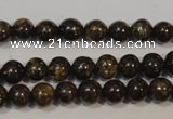 CBZ252 15.5 inches 3mm round bronzite gemstone beads wholesale