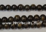 CBZ253 15.5 inches 4mm round bronzite gemstone beads wholesale