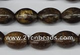 CBZ408 15.5 inches 12*16mm rice bronzite gemstone beads