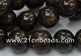 CBZ53 15.5 inches 14mm round bronzite gemstone beads wholesale